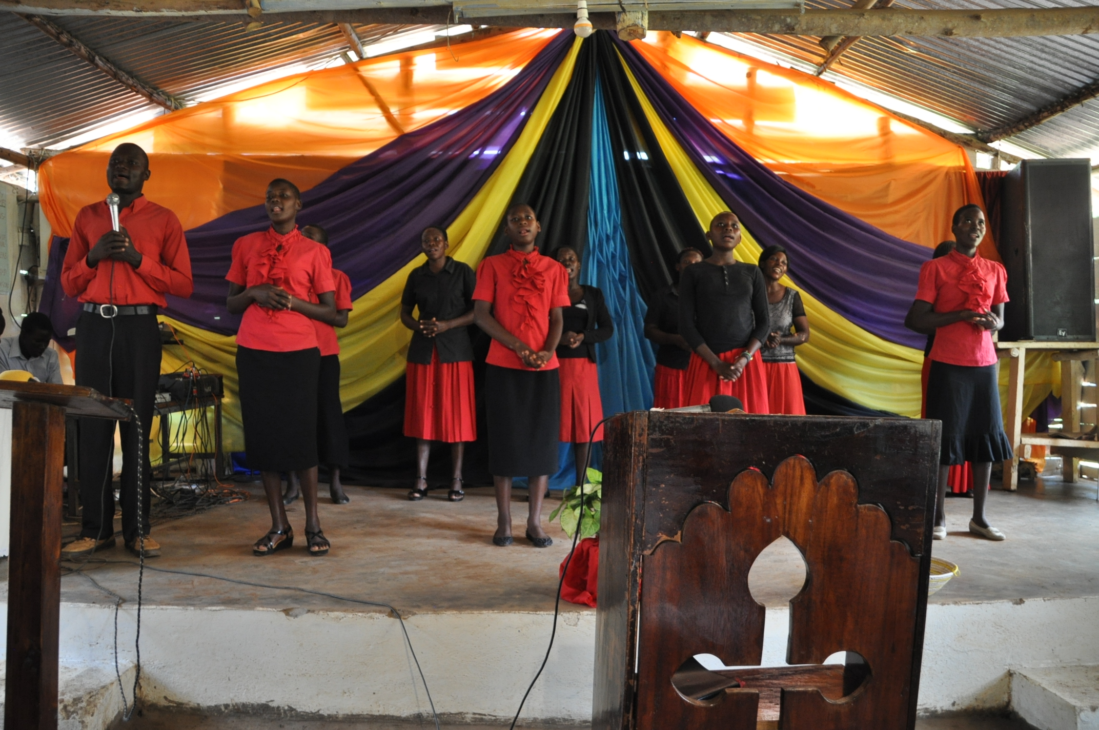 Sunday worship in the old church