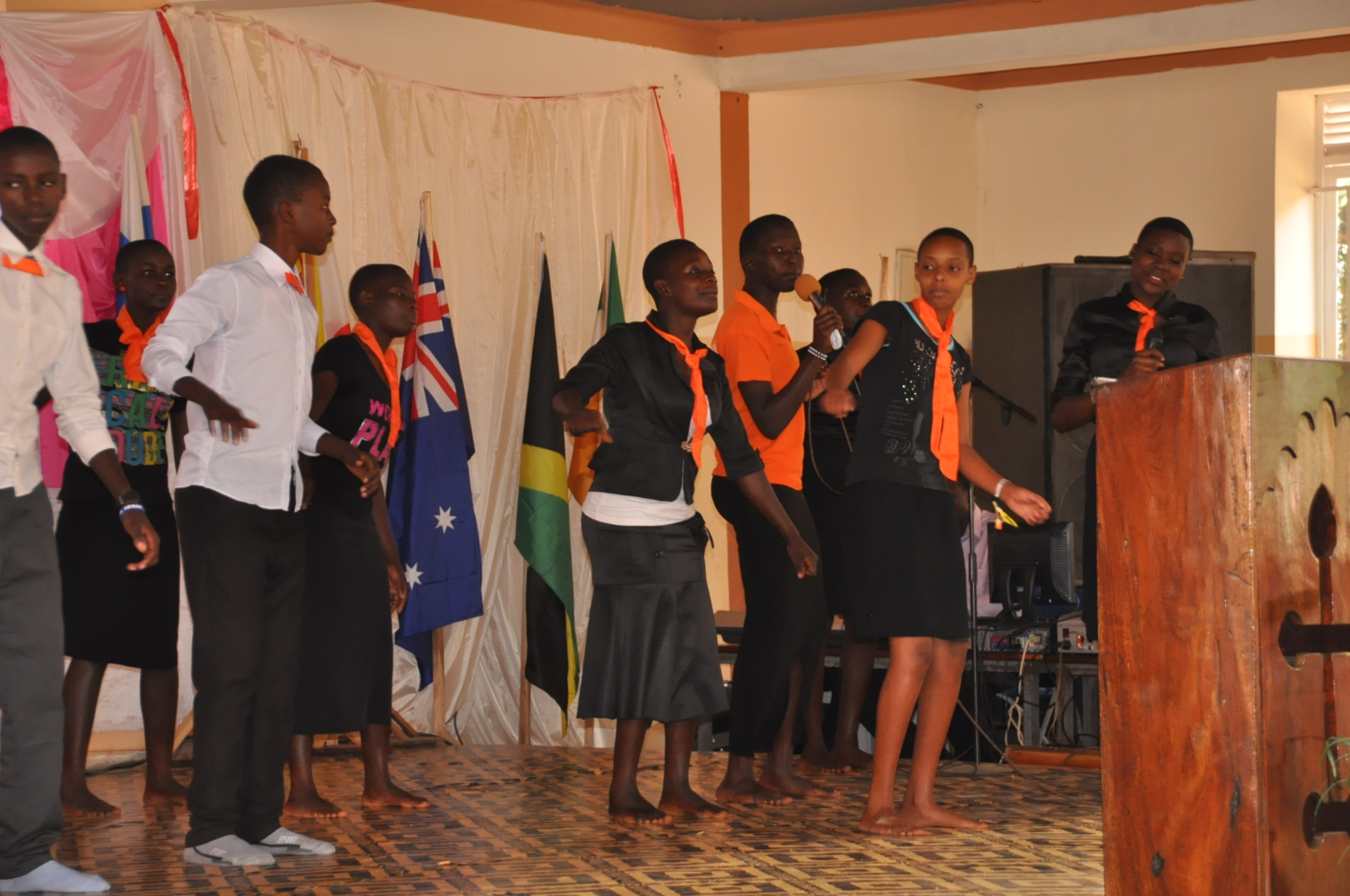 Luwero youngsters leading worship