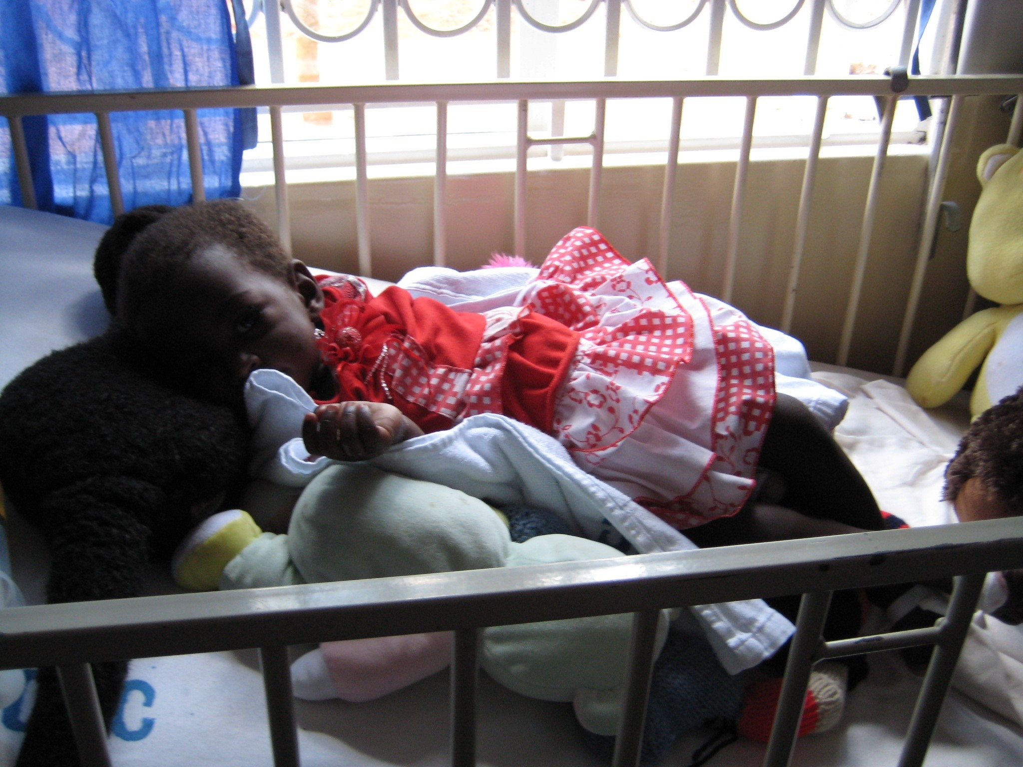Child recovering from malaria