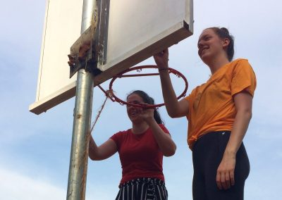 Painting the backboards