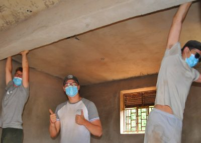 Scraping the roof and walls